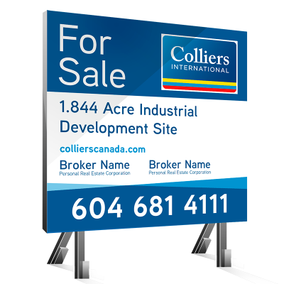 Colliers 8x8 Real Estate Sign